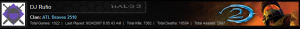 Rufio, Blaze, Halo 2 Stats